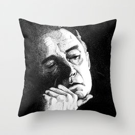 Man In Black JCII Pointillism Throw Pillow