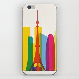 Shapes of Tokyo. Accurate to scale. iPhone Skin