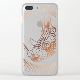 Copper Rhino Clear iPhone Case