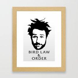 Charlie's Bird Law & Order Framed Art Print