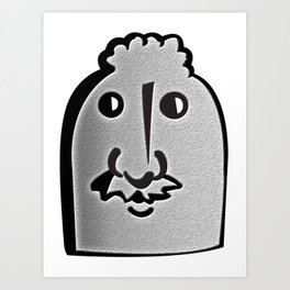 Tombstone Guy Art Print