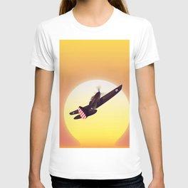 Vintage fighter plane T-shirt