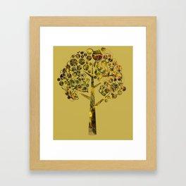 Gold tree larger Framed Art Print