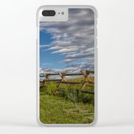 Lonesome Road Clear iPhone Case