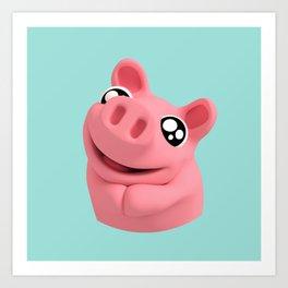 Rosa the Pig looking cute Art Print