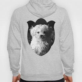 maltese dog vector art black white Hoody