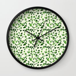 Ivy Leave Pattern Wall Clock