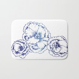 Blue Poppies Bath Mat
