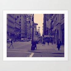 New York 20 W St  Art Print