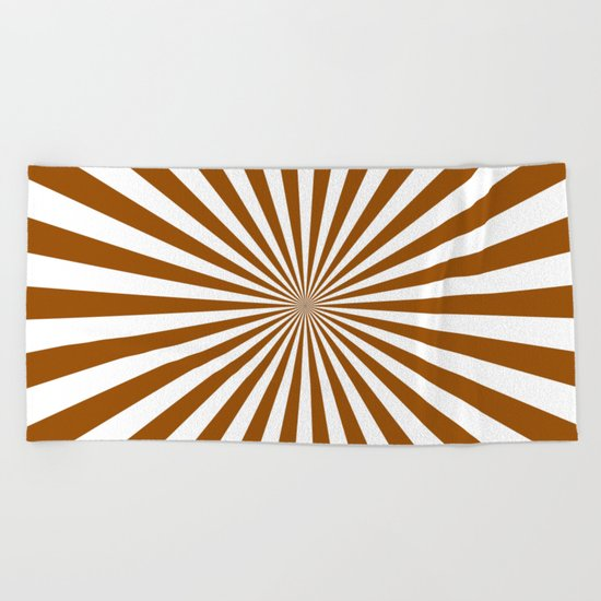 Starburst (Brown/White) Beach Towel