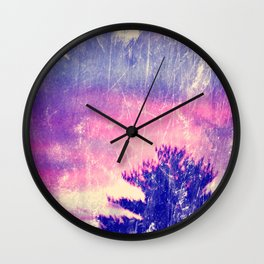 Cotton Candy Skies Wall Clock