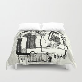 Waiting for Salvation Duvet Cover