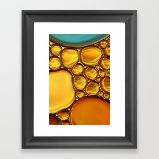 Abstract Oil & Water Framed Art Print