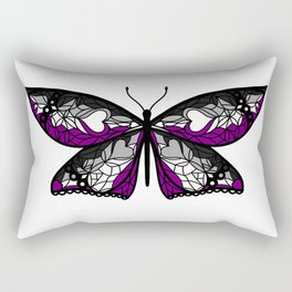 Fly With Pride: Asexual Flag Butterfly Rectangular Pillow