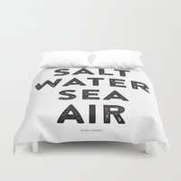 salt water Duvet Covers featuring Salt Water Sea Air - Ever So Lovely® by Ever So Lovely® Inc.