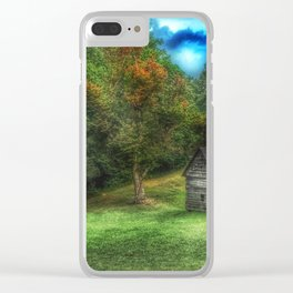 Cabin on the Parkway Clear iPhone Case