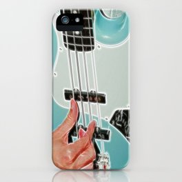 Mr Bassman Guitar fractals iPhone Case
