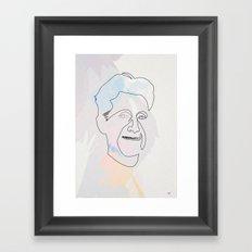 One line Georges Orwell Framed Art Print
