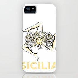Sicilian Pride - Sicilia - Sicilian Flag Trinacria iPhone Case