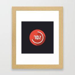 "Illustration ""percentage - 70%"" with long shadow in new modern flat design Framed Art Print"