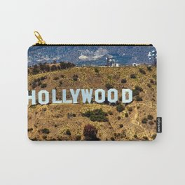 Hollywood Sign, Los Angeles, California, mountains, Griffith Park , USA, Cities, Skyline Carry-All Pouch