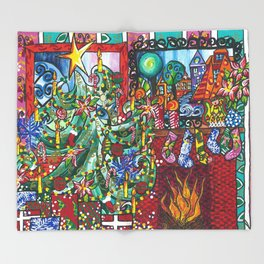 """""""Holiday Blessings"""" Throw Blanket"""