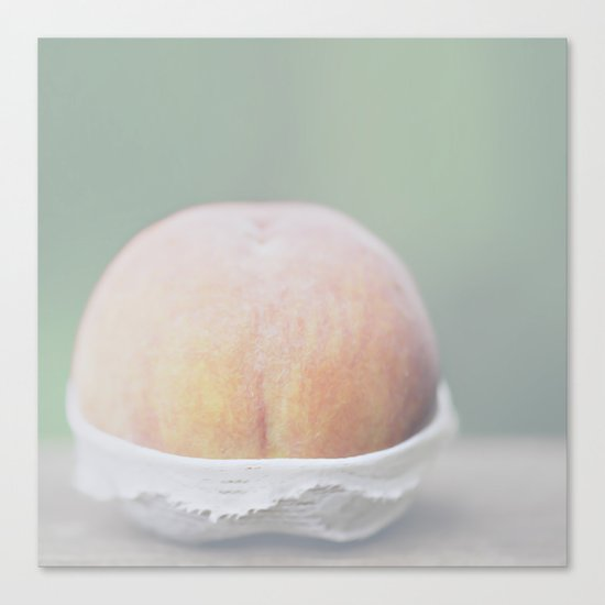 Cheeky Peach Canvas Print