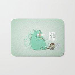 Monster and Tea Bath Mat