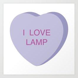 Brick Tamland Conversation Heart Art Print