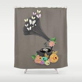 Gramaphone Bloom Shower Curtain