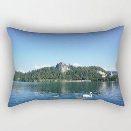 Swans in Bled Rectangular Pillow