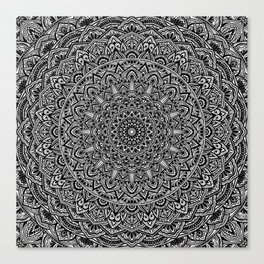 Zen Black and white Mandala Canvas Print
