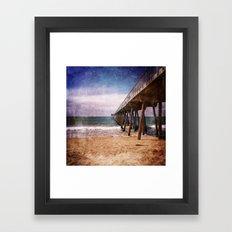 California Pacific Ocean Pier Framed Art Print