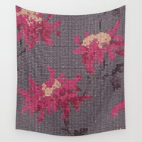 stitch Wall Tapestries featuring *Cross Stitch* by Mr & Mrs Quirynen