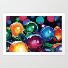 Christmas Globes Art Print