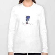 Sad Sonic The Hedgehog In A Field Long Sleeve T-shirt