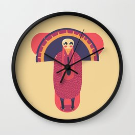 T for Turkey Wall Clock