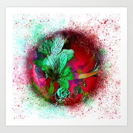 flower-orb#1 Art Print