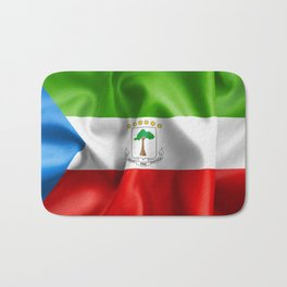 Equatorial Guinea Flag Bath Mat