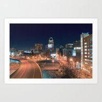 baltimore Art Prints featuring Baltimore by Andrew Mangum