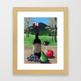 Life Is Wine Framed Art Print