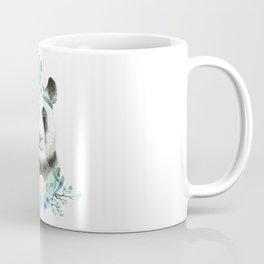 Watercolor Floral Spray Boho Panda Coffee Mug