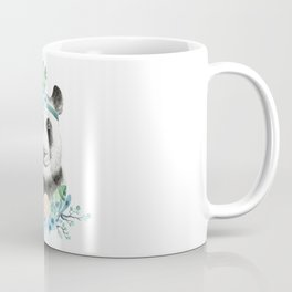 Watercolor Floral Spray Boho Panda Coffee Mug