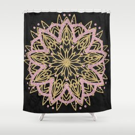 Shiny Mandala Shower Curtain