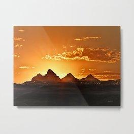 Grand Teton Sunrise Metal Print