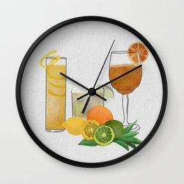 Citrus Cocktails Wall Clock