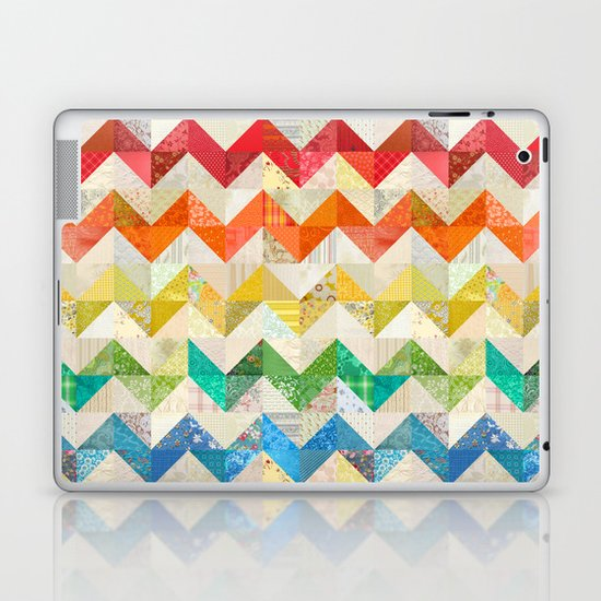 Chevron Rainbow Quilt Laptop & iPad Skin