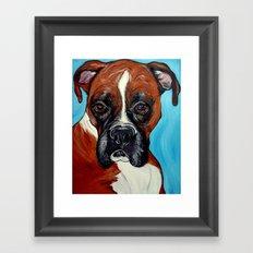 Oscar the Boxer Framed Art Print
