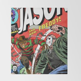 The Invincible Jason vs Freddy Throw Blanket