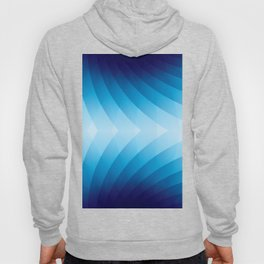 BLUE CURVES Abstract Art Hoody